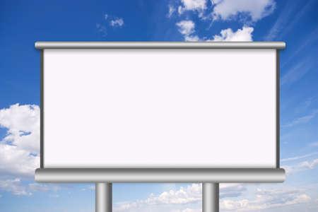 outdoor blank billboard: Blank billboard illustration