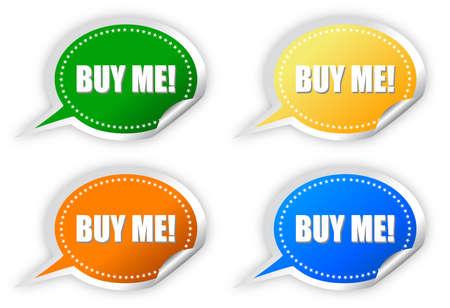 best seller: Buy me stickers set