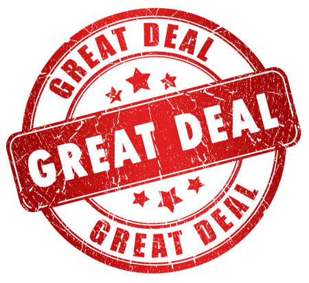 Great deal grunge stamp Stock Photo