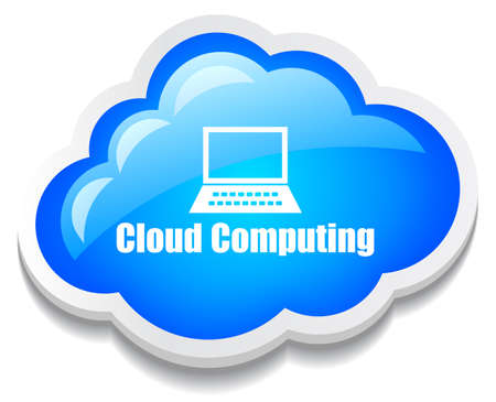 cloud computing icon Stock Vector - 14405419