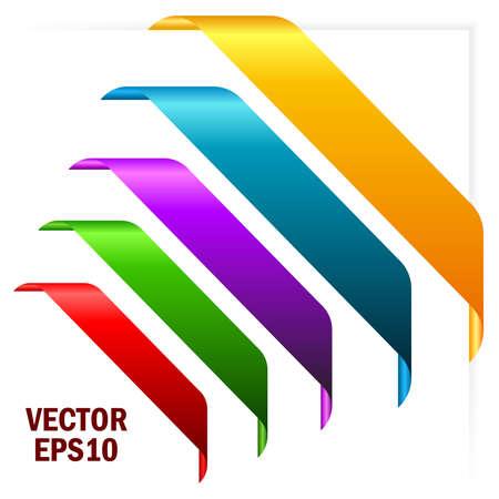 Gekleurde hoek linten illustratie Stock Illustratie