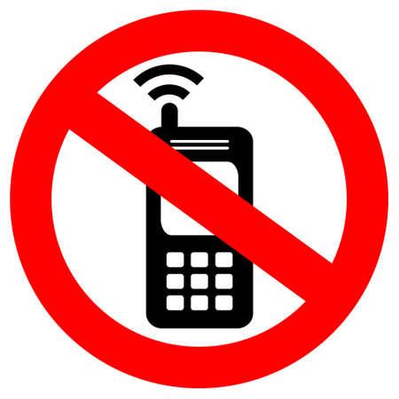 ninguna señal de teléfono celular Ilustración de vector