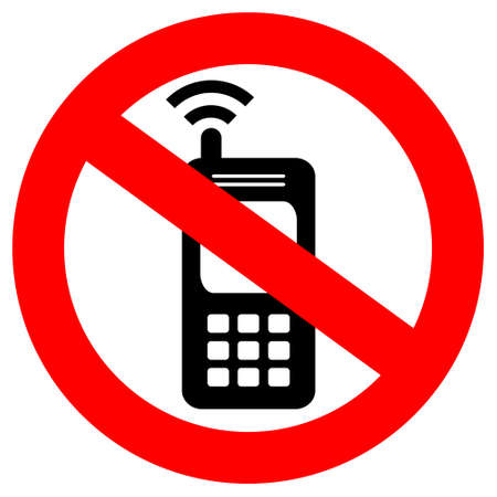 telephony: no cell phone sign