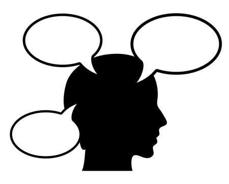 denkender mensch: Denkender Mensch illustation