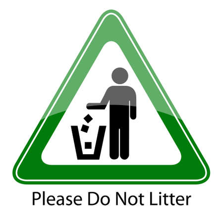 Do not litter sign Stock Vector - 14405404