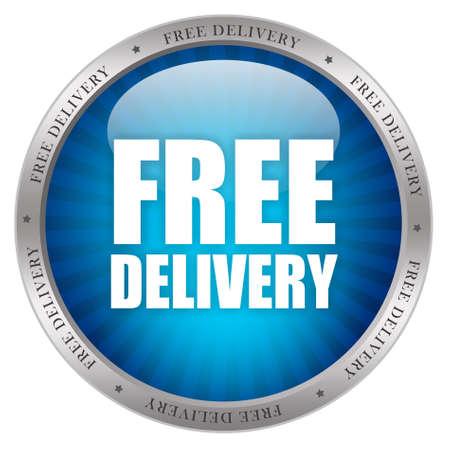 immagine gratuita: Consegna gratuita glossy icon
