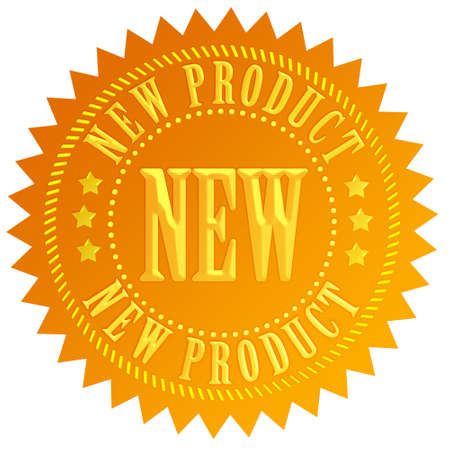 business products: New product seal Stock Photo