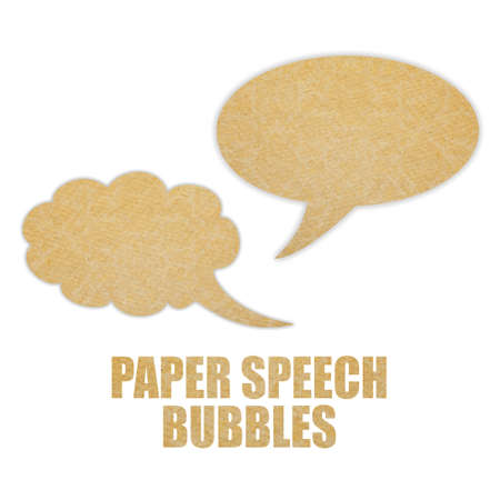 Paper speech bubbles photo