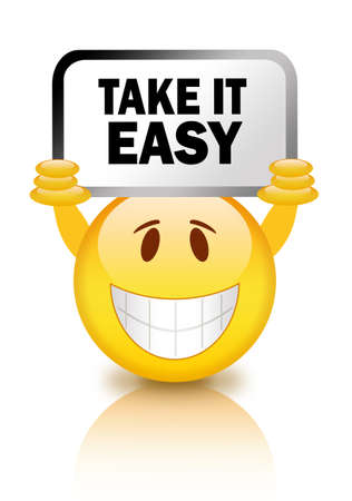 laugh emoticon: Take it easy smiley