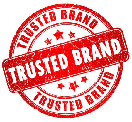 brand: Trusted brand stamp Stock Photo