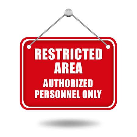 toegangscontrole: Beperkt gebied uithangbord