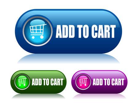 agregar: A�adir al carrito de botones vector