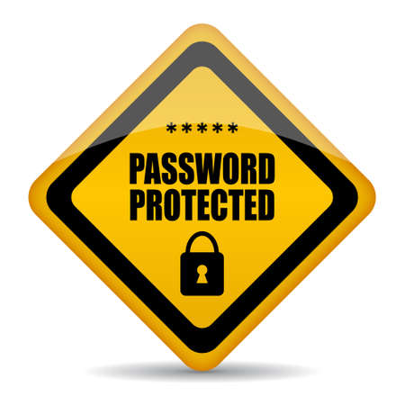 password protection: Vector password protected sign Illustration