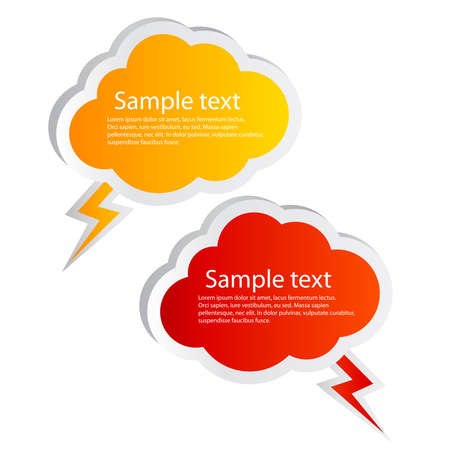Vector cloud shaped speech bubbles Vector