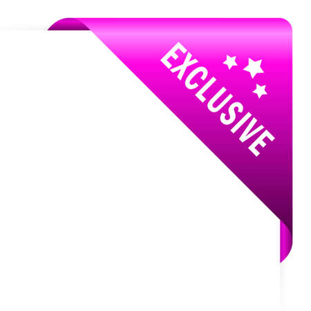 exclusively: Exclusive corner, vector illustration Illustration