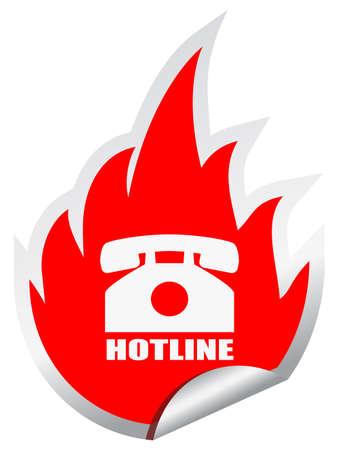 Hotline vector emblem