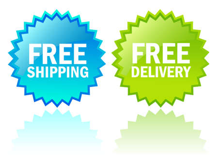 express: Vector free shipping icons