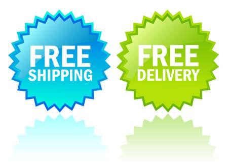 buen servicio: Vector iconos de env�o gratis