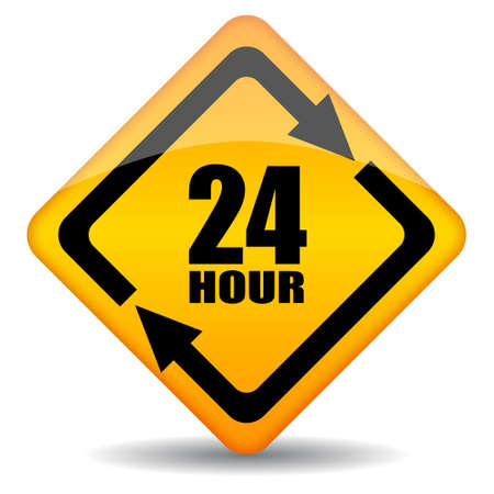 Vector 24 hour customers support sign Vector