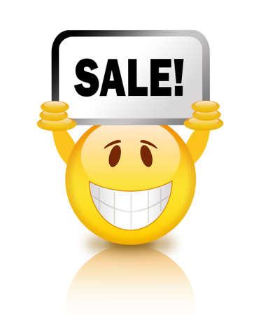 Sale smiley Stock Photo - 14562984