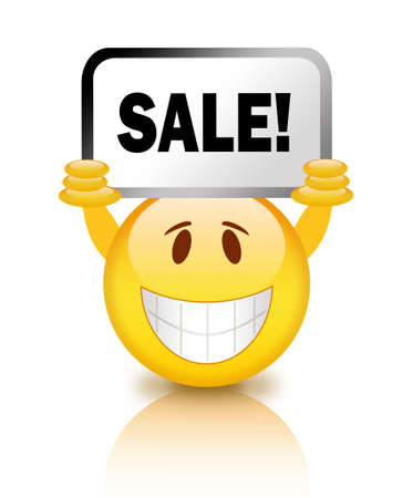 Sale smiley photo