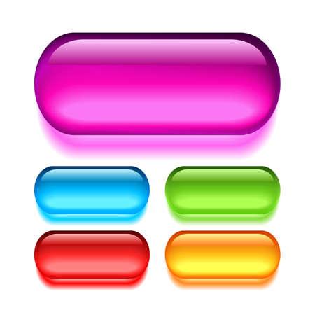 bouton brillant: Boutons de verre vectorielle mis en