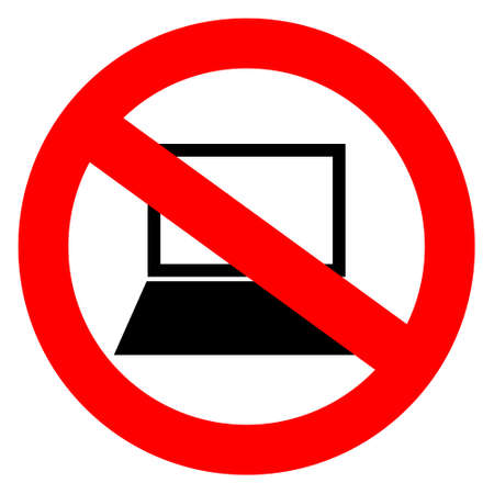 pc icon: No computers vector sign