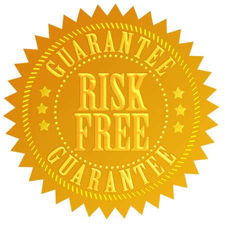 Risk free emblem Stock Photo - 14600374
