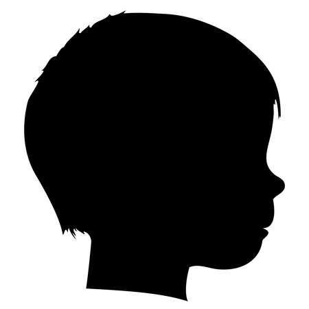 kids drawing: child silhouette Illustration