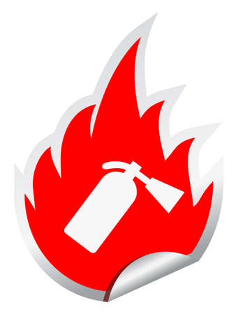 firealarm: Fire extinguisher  sign