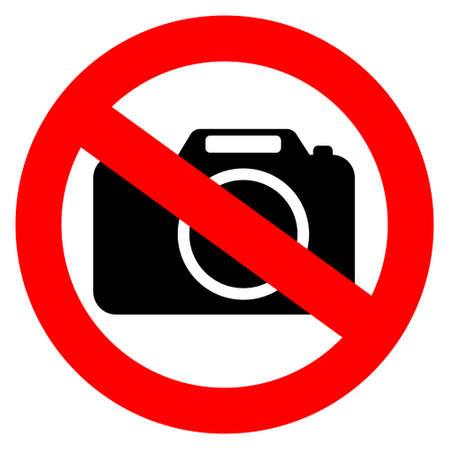 förbjuda: Ingen fotokamera tecken
