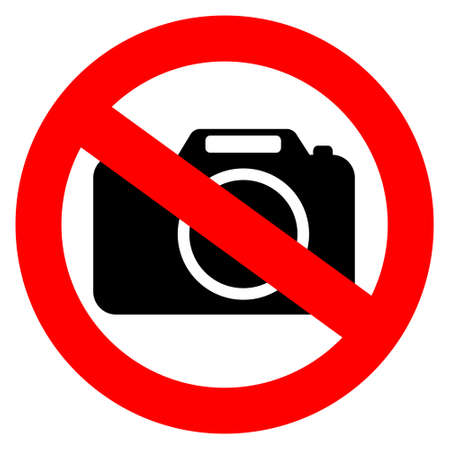 No photo camera sign Illustration