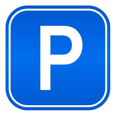 se�al parking: coches se�al de aparcamiento Vectores