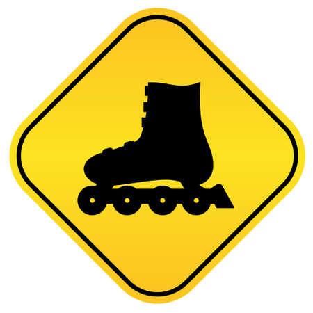 schaatsen: Rolschaatsen teken Stock Illustratie