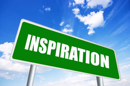 inspiring: Inspiration sign