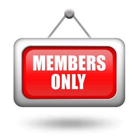 Members only sign Stock Photo - 14643687