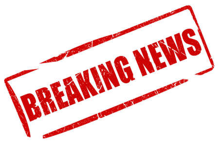 Breaking news stamp Stock Photo - 14643688