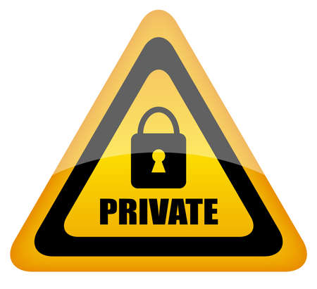 Vector private sign Stock Vector - 14755216