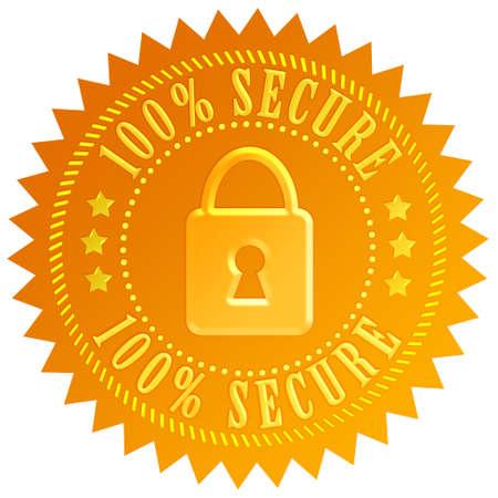 protegido: Emblema de la cerradura de seguridad Foto de archivo
