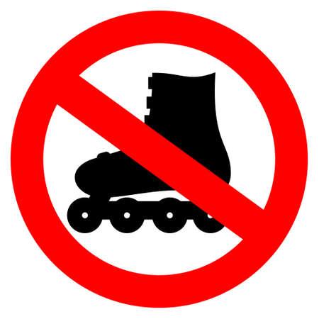 Vector no roller skate sign Stock Vector - 14837347
