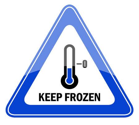 Vector segno mantenere congelati Vettoriali