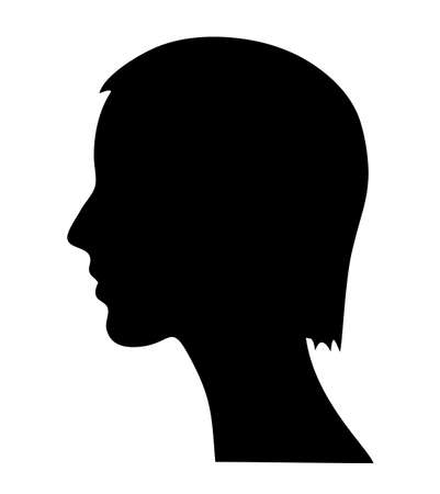 sideview: Vector woman silhouette Illustration