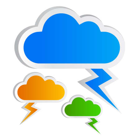 callout: Blank clouds shapes, add your own text Stock Photo