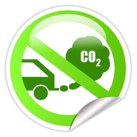 Ecological transport sticker Stock Photo - 14837350