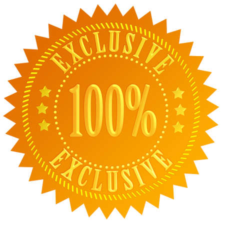 100 exclusive icon Stock Photo - 14837358