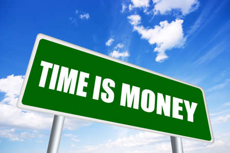 aphorism: Time is money illustrated sign Stock Photo