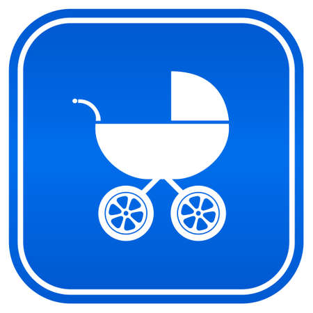 Baby carriage sign Vector