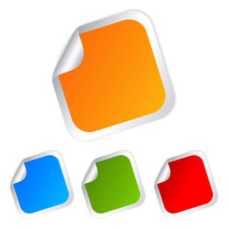 Vierkante stickers set, vector illustratie Vector Illustratie