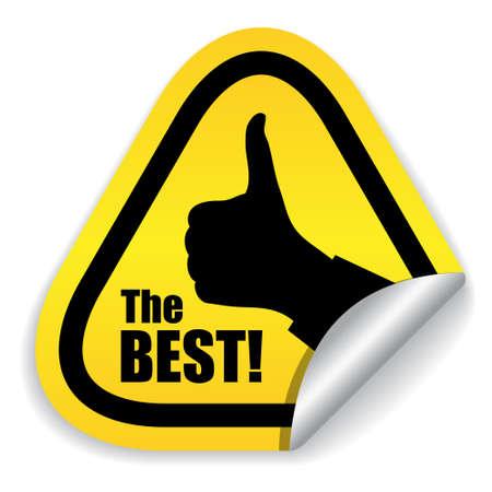 buen trato: La mejor opción ilustración símbolo