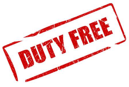 Duty free stamp photo